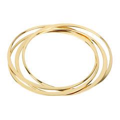 Worthington® Gold-Tone Interlock Bangle Bracelets