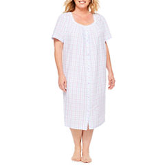 Adonna Short Sleeve Jersey Robe-Plus