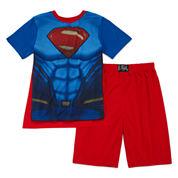 Comics Superman with Cape 3-pc. Pajama Set - Boys