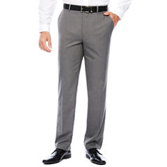 J.Ferrar Stretch Gray Sharkskin Slim Fit Suit Pant