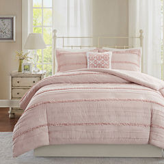 Madison Park Isabella 4-pc. 2-in-1 Duvet & Coverlet Set