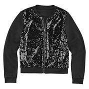 Total Girl® Sequin Bomber Jacket - Girls 7-20