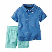 Carter's® 2-pc. Blue Polo and Shorts Set - Baby Boys newborn-24m