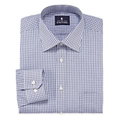 Stafford® Travel Long-Sleeve Easy Care Broadcloth Button-Front Shirt