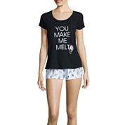 Sleep Riot 2-pc. Short-Sleeve Shirt and Shorts Pajama Set