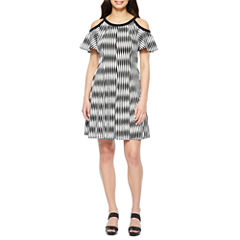 Danny & Nicole Cold Shoulder Fit & Flare Dress