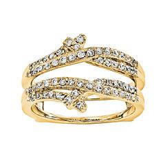 1/2 CT. T.W. Diamond 14K Yellow Gold Ring Guard