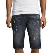 Akademiks® Burton Flat-Front Denim Shorts