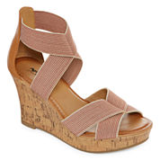Arizona Mulberry Womens Wedge Sandals