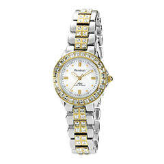 Armitron® Now® Womens Crystal-Accent Two-Tone Brass Watch