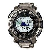 Casio® Pro Trek Pathfinder Mens Triple Sensor Titanium Watch PRW2500T-7CR