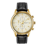Citizen® Exclusive Mens Leather Strap Chronograph Watch