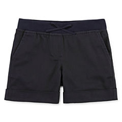 IZOD® Pull-On Stretch Twill Shorts - Preschool Girls 4-6x