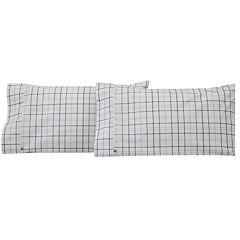 IZOD® Windowpane Plaid Set of 2 Pillowcases