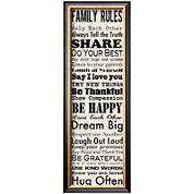 Art.com Family Rules Panel Framed Print Wall Art