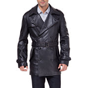 Momo Baby Damian Leather Trench Coat