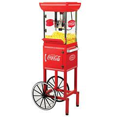 Nostalgia CCP399COKE 48-Inch Tall Coca-Cola 2.5-Ounce Kettle Popcorn Cart