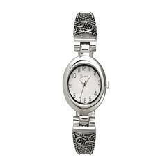 Olivia Pratt Womens Silver Tone Bangle Watch-10022