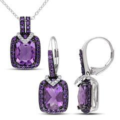 Womens 2-pc. 1/6 CT. T.W. Purple Amethyst Sterling Silver Jewelry Set