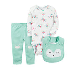 Carter's Little Baby Basics Girl Knee Art Set