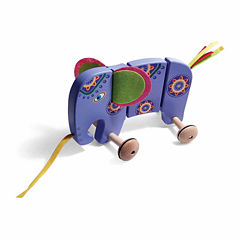 House of Marbles TiddlyTots Large Wooden Pull-Along Elephant