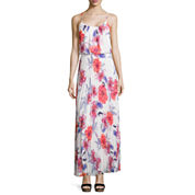 Bisou Bisou® Sleeveless Pleated Floral Maxi Dress