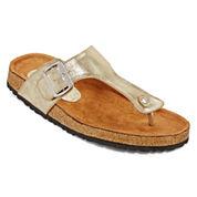N.Y.L.A. Chavis Rhinestone T-Strap Sandals