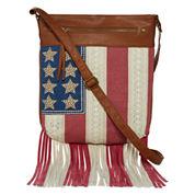 Arizona Americana Fringe Crossbody Bag