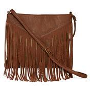 Arizona Americana Fringe Feather Crossbody Bag
