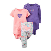 Carter's® 3-pc. Fox Layette Set - Baby Girls newborn-24m