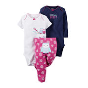 Carter's® 3-pc. Short-Sleeve Bodysuits & Pants Set - Baby Girls newborn-24m