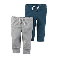 Carter's® 2-pk. Blue and Heather Pants - Baby Boys newborn-24m