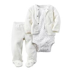 Carter's® 3-pc. Bear Footed Layette Set - Babies newborn-24m