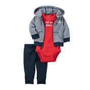 Carter's® 3-pc. Navy Striped Layette Set - Baby Boys newborn-24m