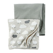 Carter's® 2-pk. Neutral Heather Swaddle Blankets - Babies newborn-24m