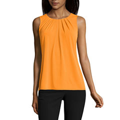Worthington Sleeveless Scoop Neck T-Shirt