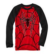 Marvel® Long-Sleeve Spiderweb Novelty Raglan Shirt - Boys 8-20