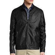 Claiborne® Faux Leather Jacket