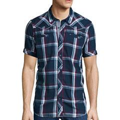 i Jeans By Buffalo Short-Sleeve Sanded Denim Top