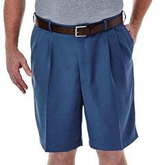 Haggar® Cool 18® No–Iron Pleated Shorts–Big & Tall