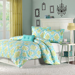 Mi Zone Paige Damask Duvet Cover Set