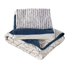 Lolli Living Comforter, Fitted Sheet and Bed Skirt - Navy