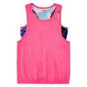 Reebok® Pirouette Layered Tank Top - Girls 7-16