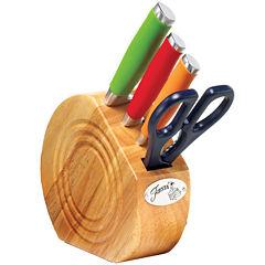 Fiesta® Multicolor 5-pc. Cutlery and Knife Block Set