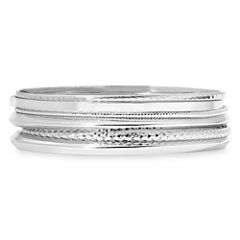 Liz Claiborne® Silver-Tone 6-pc. Bangle Bracelet Set