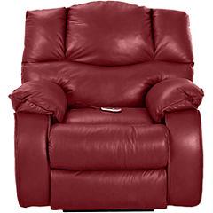 Hillside Leather Heat and Massage Recliner