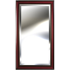 Pinnacle Wood-Tone Mirror with Bead Accent