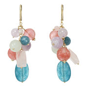 ROX by Alexa Mixed Gemstone Wire Drop Earrings
