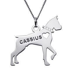 Boxer Sterling Silver Personalized Pendant Necklace