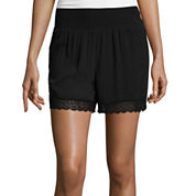 Bisou Bisou® Smocked Lace Shorts